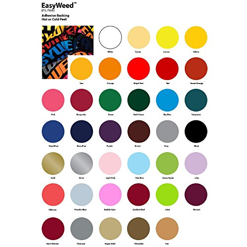 Siser EASYWEED 12 X 5 Yards Mix and Match PER Yard