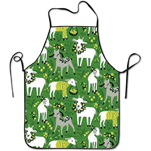 Valentine Apron Personalized (Starmilwke Little Goats Hot Fashion Deluxe Cute Aprons Personalized Printing Kitchen Cute Apron)