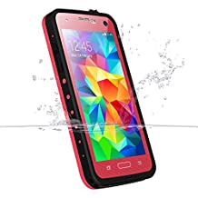 Samsung Galaxy S5 Waterproof Case, iThrough Waterproof Case, Dust Proof, Snow Proof, Shock Proof Case with Touched Transparent Screen Protector, Heavy Duty Protective Carrying Cover Case includes a 3.5mm AUX Cable for Samsung Galaxy S5