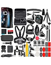 $639 » GoPro HERO10 (Hero 10) Black - Waterproof Action Camera with Front LCD and Touch Rear Screens, GP2 Engine, 5K HD Video, 23MP Photos, Live Streaming, 64GB Card and 50 Piece Accessory Kit - Bundle