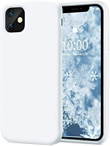 KUMEEK iPhone 11 Case, Soft Silicone Gel Rubber Bumper Case Anti-Scratch Microfiber Lining Hard Shell Shockproof Full-Body Protective Case Cover for iPhone 11-White