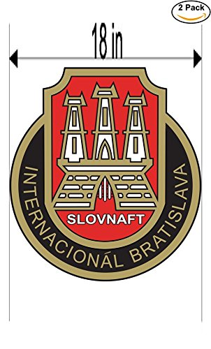 fan products of Slovnaft Internacional Bratislava Slovakia Soccer Football Club FC 2 Stickers Car Bumper Window Sticker Decal Huge 18 inches