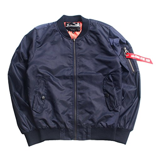 Mens Bomber Jacket,Mens Classic Air Force Military Flight Jackets Waterproof Pilot Biker Security Wear Coat (Navy Blue, Tag XL=US (Security Bomber)