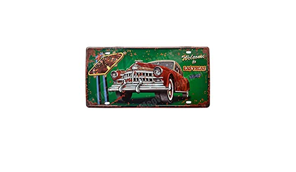 skygvvege Cartel De Chapa Pósteres Coche Vintage Decorativo Matrícula Bar Pub Inicio Playa Decoración De Pared Placa De Hierro Pintura: Amazon.es: Hogar