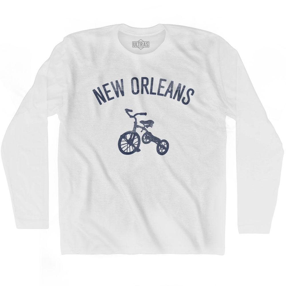 New Orleans City Tricycle Adult Cotton Long Sleeve T-shirt