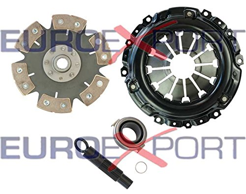 Competition Clutch Disc and Pressure Plate Kit for Honda Acura K20 K24 RSX Ceramic 6 Puck Rigid/Solid Stage 4 8037-0620