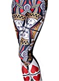 VWU Womens Sexy Digital Printed Leggings Big Girls Fashion Leggings (Playing Card, XX-Large)