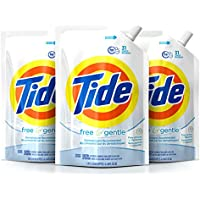 3-Pack Tide Free & Gentle Liquid Laundry Detergent Pouches