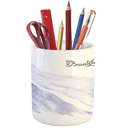 pencil pen holderbridal shower decorationsprinted ceramic pencil pen holder for desk office
