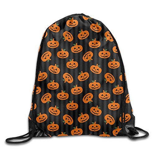 Price comparison product image SUNG916 Halloween Pumpkin Gym Drawstring Bags Backpack