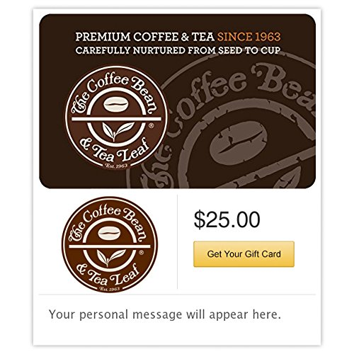 The Coffee Bean & Tea Leaf Mansion Gift Cards - E-mail Delivery