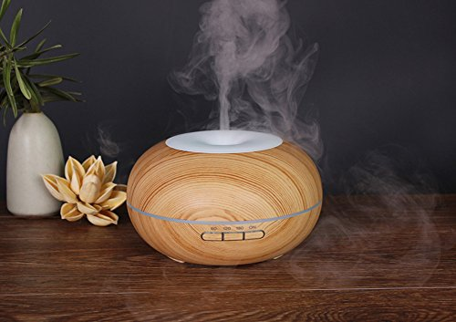 Homipooty 2017 The Latest Essential Oil Diffuser Ultrasonic Cool Mist Diffusers with 7 Color LED Lights Waterless Auto Shut-off,300ml for Home Office Yoga Spa by Homipooty (Image #2)