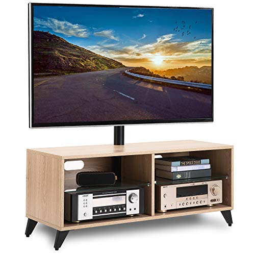 Rfiver Swivel TV Stand Media Console for Most 32