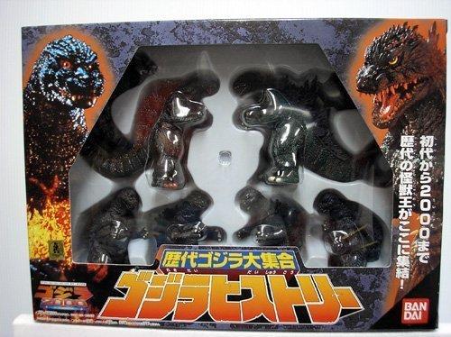 Godzilla Bandai Japanese 4 Inch Mini PVC Godzilla 2000 6 Figure Set by Bandai