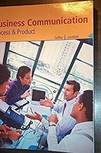 Paperback Business Communication Process & Product Book