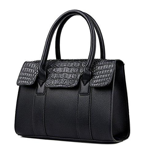 2 Black Donna Pezzi Moda Multicolore Borsa Coccodrillo A Tracolla Modello Mano 6wdH7w