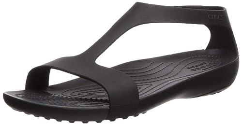 73c1f922f4e1c Crocs Women s Serena Sandal Flat Black