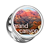 FERVENT LOVE Jewelry Travel to Grand Canyon Photo Charm Cylindrical Beads Both Sides Bracelet Charm