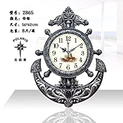 Imoerjia Home Wall Clock Corporate Office Building in Table Black and White Quartz Watches Mute Clock, 20 Inch, Dark Gray