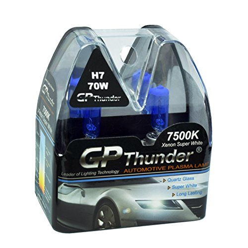 GP Thunder GP75-H7 Super White H7 12V 70W Halogen Xenon Bulb with Quartz Glass (High Wattage 7500K 2 ()