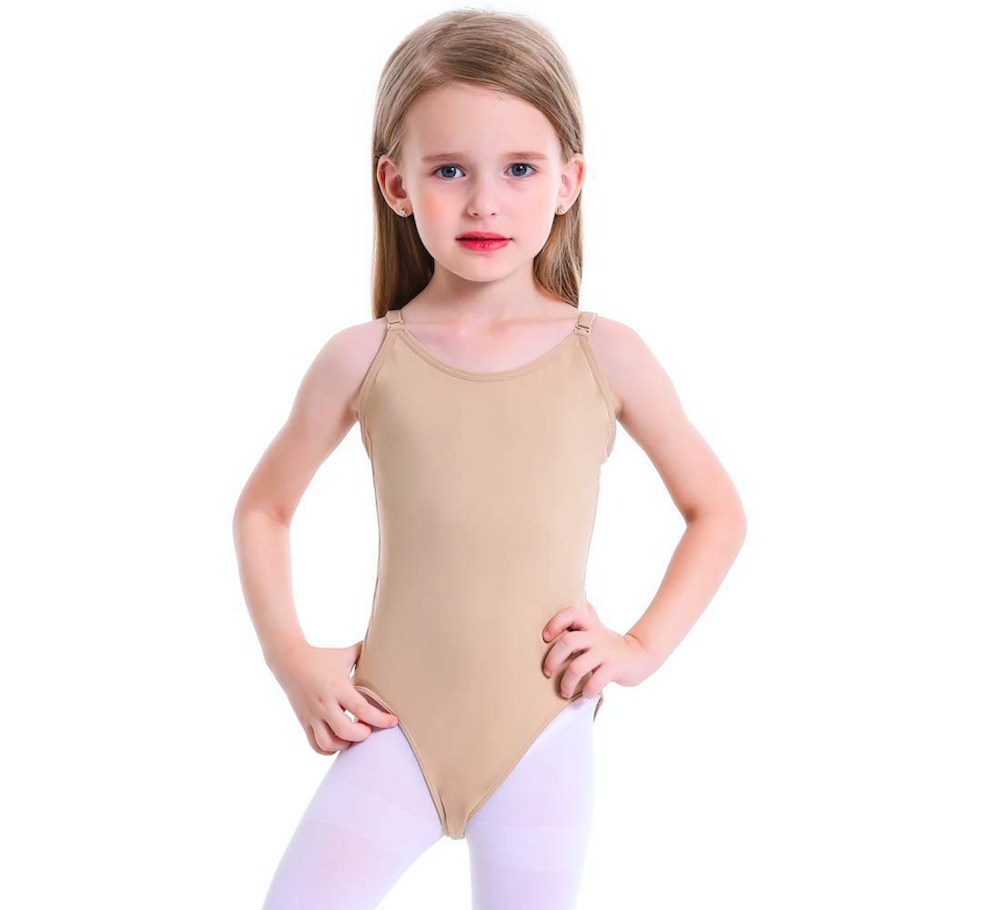 Girls Leotard Nude Seamless Undergarment Camisole Dance Bodysuit for Dance/Ballet/Gymnastics/Performance Size-XXL