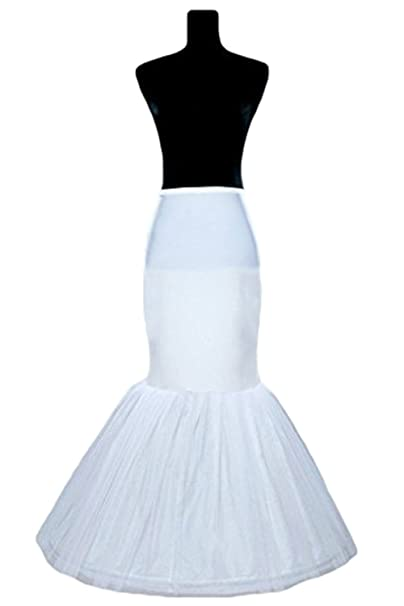 fb278a2c75b3 Women's White Long Petticoat Skirt Slip Mermaid Wedding Dress Crinoline at  Amazon Women's Clothing store: