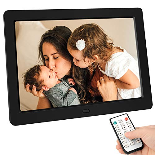 Tenswall 10 Inch Digital Photo Frame Upgraded HD 1280x800, Digital Picture Frame Full IPS Display Photo/Music/Video/Calendar/Time, Auto On/Off Timer, Support 32GB USB Drives/SD Card,Remote Control