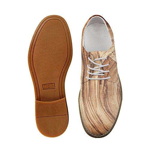 Color1 Hombre con Zapatos Wood Planos Cordones Nopersonality IPYwEqw