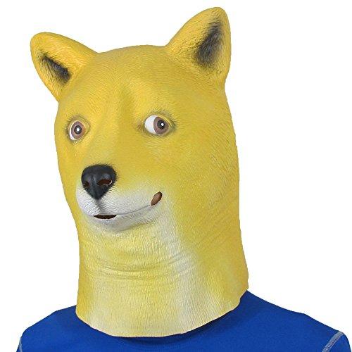 Monstleo Latex Halloween Party Costume Decorations Animal Head Mask Doge Dog (Chicken Head Mask)