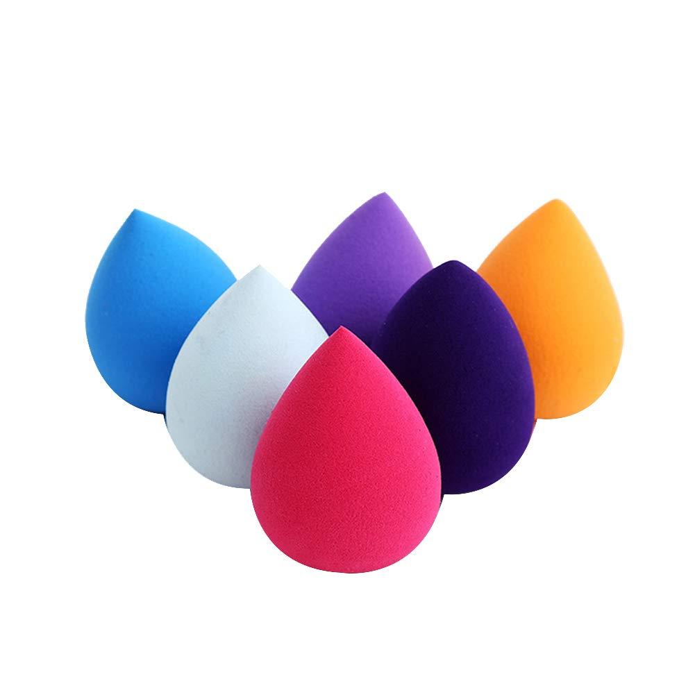 Cosanter 6 Pezzi Beauty Blender Spugna Trucco per Il Trucco di Fondazione 7 * 5.5cm, Colore Casuale