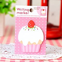 ADB Inc Cupcake Sticker Post It Bookmark Mark Index Tab Memo Notepad Sticky Notes