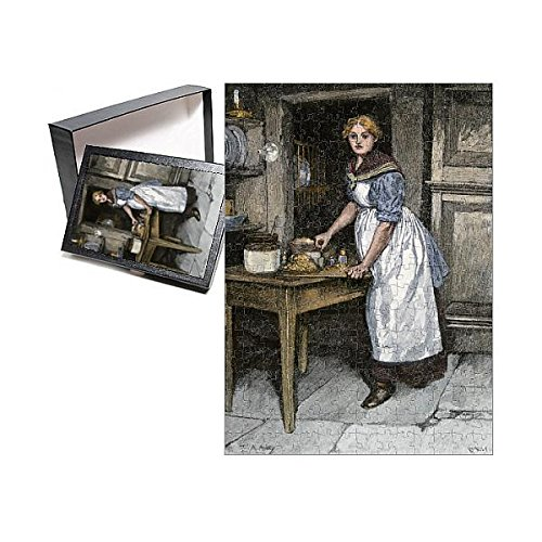 (Media Storehouse 252 Piece Puzzle of Scots Housewife preparing Haggis, 1800s (5880392))