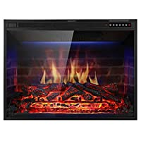 Xbeauty Electric Fireplace Insert Recess...
