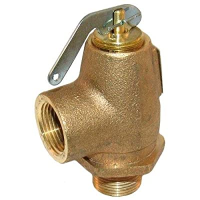 "Generic 561356 Steam Safety Valve Pressure Relief Brass 3/4"" Npt 25 Psi 485 Lb/Hr from Generic"