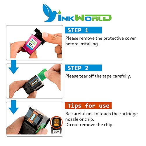 Inkworld Remanufactured Ink Cartridge Replacement for HP 61 HP 61XL Combo High Yield (1 Black, 1 Color) for HP Envy 4500 5530 5534 5535, HP Deskjet 1000 1010 1512 3050, HP Officejet 4630 2620 4632 Photo #3