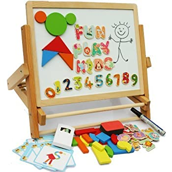 Amazon Com Toys Of Wood Oxford Wooden Easel For Children