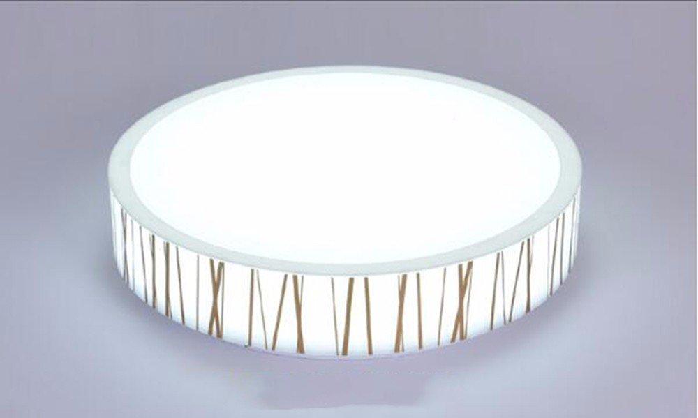 MeloveCc Deckenleuchte Ledthat Kreativität Schlafzimmer Wohnzimmer Persönlichkeit Restaurant Home Lighting Runde Linien Keine der Pole Fernbedienung 24W 40cm