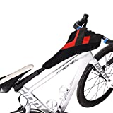 RockBros Bicycle Trainer Sweat Net Frame Guard Absorbs Sweat Black Red