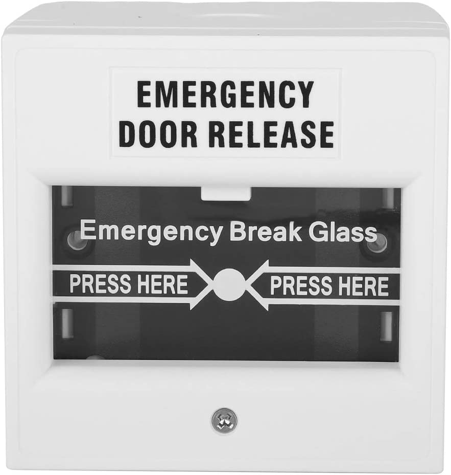 Emergency Exit Door Switch, Fire Alarm Button, Home Security Access Switch, Glass Door Power Switch, White