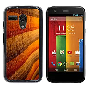 MOBMART Carcasa Funda Case Cover Armor Shell PARA Motorola Moto G 1 1ST Gen - Brown Woolen Striped Design