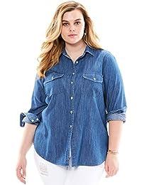 Women's Plus Size Olivia Denim Shirt