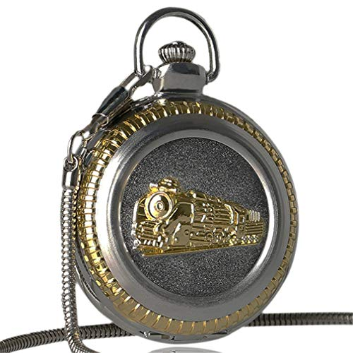 Bronze Locomotive Carving Train Vintage Pocket Watch Relogio Feminino Pocket Watch With Chains Necklace Pendant Chains Gifts Pendant Chain 30cm2 from Lseetime