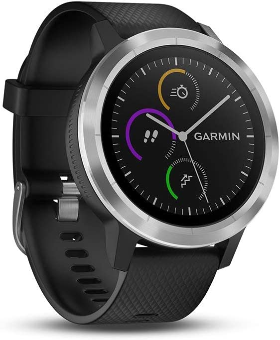 Smartwatch GARMIN Vivoactive 3 1,2in GPS Waterproof 5 ATM Glonass Black Stainless Steel (Renewed)