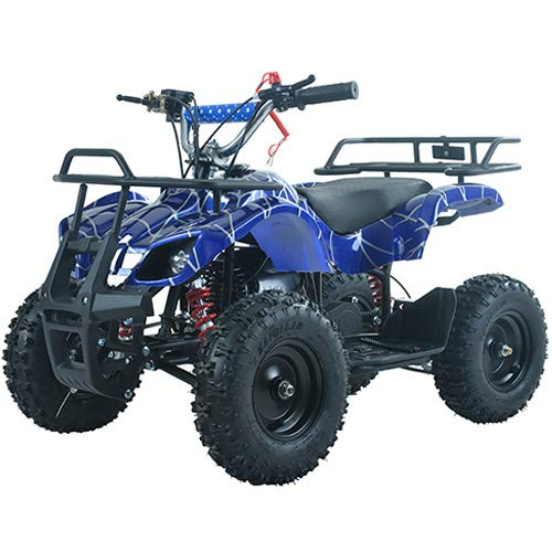 X-Pro Kids ATV 4 Wheelers 40cc Quads Kids Quad with Gloves, Goggle and Handgrip (Spider Black) by X-Pro (Image #2)