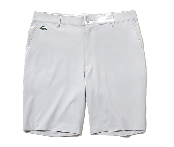 d1bfcef006 Lacoste Men's Sport Stretch Taffeta Technical Golf Bermuda Shorts (Small)  Grey