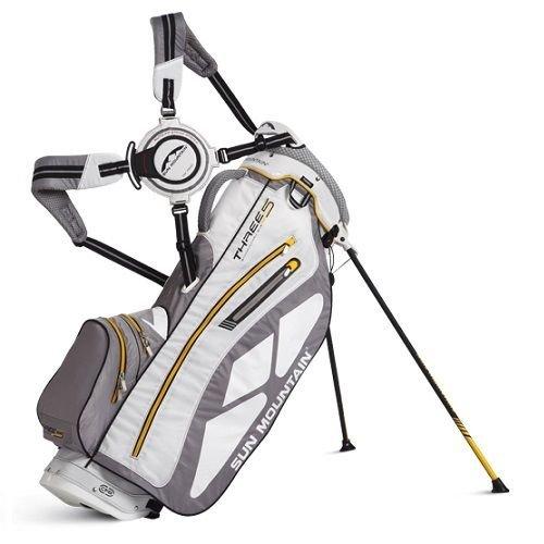 UPC 651323400604, Sun Mountain Three 5 Stand Bag 2014 CLOSEOUT White/Gray/Yellow