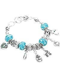 Women's New Mom Glass Beaded Charm Bracelet