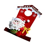 Appliances : ULAKY Christmas House Shape Santa Claus Snowman Window Door Hanging Ornaments Xmas Gifts Holiday Decorations