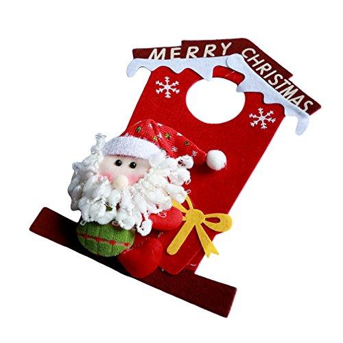 ULAKY Christmas House Shape Santa Claus Snowman Window Door Hanging Ornaments Xmas Gifts Holiday Decorations