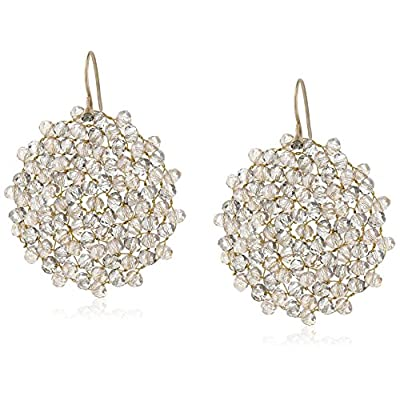 """Hot Kenneth Cole New York """"Woven Item"""" Topaz Woven Faceted Bead Drop Earrings free shipping"""